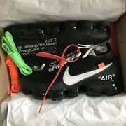 Nike Air Vapormax Flyknit Off White Andldquothe Tenandrdquo By Virgil Abloh 2017 Sz 6