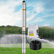 Submersible Pump 3hp Deep Well Pump 32.8ft Cable 4 230v 630ft W/control Box