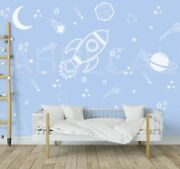 Space Wall Decals Rocket Decal Space Ship Decal Boys Room Decor Outer Space 288