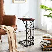 C Small Sofa Side End Table Snack Accent Console Table Nightstands Wood Antique
