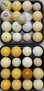 Pool Cue Ball, 1500 Vintage And Antique Billiard Balls In Stock, Clay And Aramith