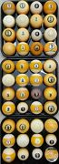 9 Pool Ball From 8 Shipped1500 Vintage Antique Billiard Balls Clay Aramith