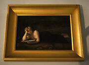 Porcelain Hand Painted Picture C.1900 By K.p.m. Modern Frame Painting