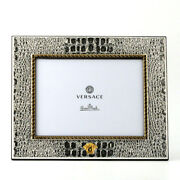 Versace Fashion Silver Gold Plated Picture Frame Exclusive 8x10 Made In Italy
