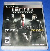 Ultimate Stealth Triple Pack Playstation 3 New Sealed Free Shipping