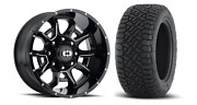 20x10 Black Vision Bomb Fuel At Tire Wheel And Tire Package 6x5.5 Toyota Tacoma