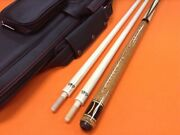 Longoni Carom Cue Scandinavia With S30 Shafts And Top Notch Leather Case.