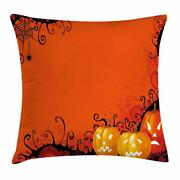 Spider Web Throw Pillow Cases Cushion Covers Home Decor 8 Sizes By Ambesonne