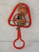 Vintage Celluloid Baby Musical Rattle Toy With Camel