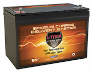 Vmax Mr127 For Glastron Power Boat And Trolling Motor Marine Deep Cycle Battery