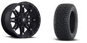 18 Fuel Hostage Black Wheels At Tires Package 285/65r18 8x6.5 Chevy Gmc 3500
