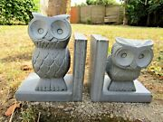 Hand Made Carved Gorara Stone Owl Owlet Book Ends Bookends Holder Display Stand