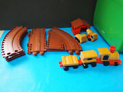 Vintage Mattel 1972 Plastic And Wood Train And Tracks And Case
