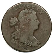 1798 S-182 R-4 2nd Hair Small 8 Draped Bust Large Cent Coin 1c