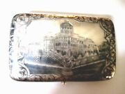 Antique Imperial 84 Silver Massive Cigarette Case With Niellomoscow1880and039s