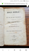 1815 Printed In Philadelphia Pa Holy Bible King James Need Cleaning Restoration