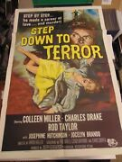 Colleen Miller Rod Taylor Step Down To Terror Orig 27x41 Movie Poster Mp149