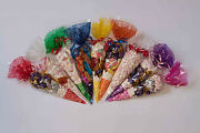 Cone Cellophane Party Bags - Top Quality Cellos For Favours Free Twist Ties