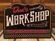 Dads Workshop Garage Metal Vintage Style Battery Tire Texaco Mobil Wall Decor