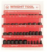 Wright Tool D960 3/4-inch Drive 6-point Standard And Deep Sockets