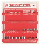 Wright Tool D957 Metric 1/4-inch And 3/8-inch Drive 6 And 12-point Sockets