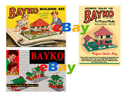 Bayko Meccano 1950's Set Of 3 A4 Size Posters Leaflets Shop Display Signs