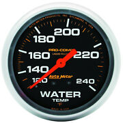 Autometer 5432 Pro-comp Water Temp Gauge, 2-5/8 In., Mechanical