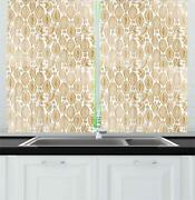 Cocoa Kitchen Curtains 2 Panel Set Window Drapes 55 X 39 By Ambesonne