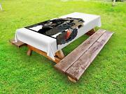 Rider Pattern Outdoor Picnic Tablecloth In 3 Sizes Washable Waterproof
