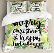 Festive Holiday Duvet Cover Set Twin Queen King Sizes With Pillow Shams