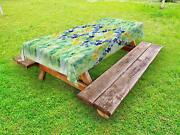 Watercolor Flower Outdoor Picnic Tablecloth In 3 Sizes Washable Waterproof