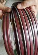 Vintage 70and039s Burgundy And Chrome Car Molding Never Used New Old Stock Nos