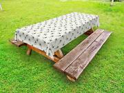 Kites Pattern Outdoor Picnic Tablecloth In 3 Sizes Washable Waterproof