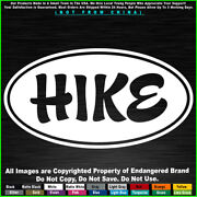 Hike Oval Camping Travel Car Fits Jeep Truck Sticker Decal