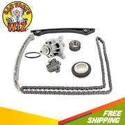 Timing Chain Kit Cover Seal Water Pump Fits 12-15 Ford 2.0l L4 Dohc Tc Ecoboost