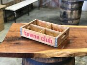 Vintage Town Club Soda Pop Crate With 4 Dividers - Vintage Soda Crates