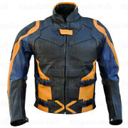 New X-man Days Of Future Past 2014 Movie Costume Leather Jacket Safety Pads