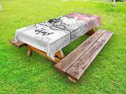 Far Eastern Outdoor Picnic Tablecloth In 3 Sizes Washable Waterproof
