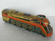 Vintage Battery Operated Golden Falcon Train Engine Toy Japan