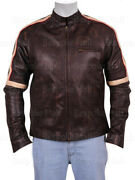 Appealing Tom Cruise War Of The Worlds Brown Real Skin Leather Jacket