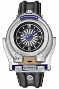 Gv2 By Gevril Menand039s Triton Watch 3400 Automatic Steel Black Leather Luminous