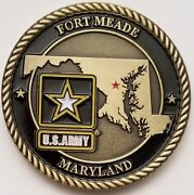 Nsa National Security Agency Ft Meade Maryland Md Us Army Garrison Coin