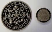 Lot 2 Usss Secret Service Tsd Technical Security Division 2 Coin And 4 Patch