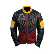 The Flash Vibe Cisco Ramon Quilted Multicolor Genuine Sheep Leather Jacket