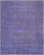Pasargad Vintage Overdye Collection Hand-knotted Lamband039s Wool Rug-9and039 2 X 11and039 11