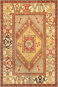 Pasargad Vintage Oushak Collection Hand-knotted Lamb's Wool Rug- 5' 7 X 8' 9