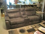 6 Sectional Living Room Set 4 Pieces Recline, One Has Console, One Is Stationary