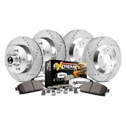 For Ford F-150 99-00 Brake Kit Power Stop 1-click Extreme Z36 Truck And Tow