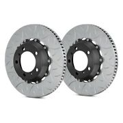 For Porsche 911 12-15 Brake Rotors Gt Series Curved Vane Type Iii Slotted