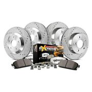 For Dodge Durango 03 Brake Kit Power Stop 1-click Extreme Z36 Truck And Tow
